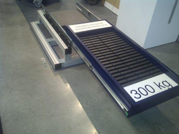 4010 7619 Full Extension Slide Tr7619 300kg 660lbs Sliding